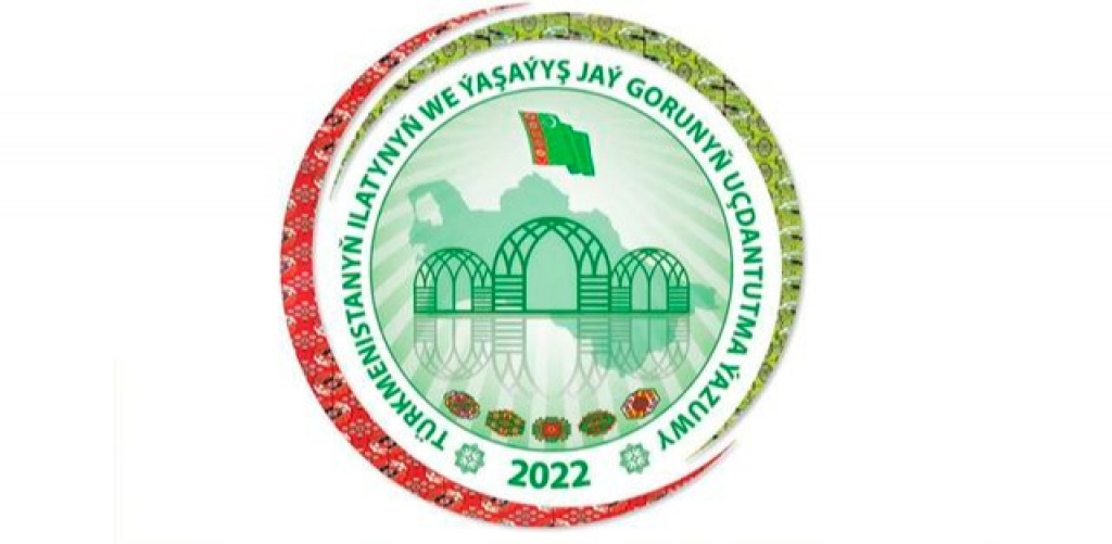The logo and motto of the upcoming 2022 population and housing census of Turkmenistan has been selected